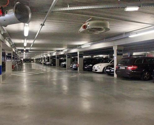 ondergrondse parkeerplaats Mortsel