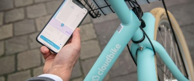 Nieuwe dropzone voor 'slimme deelfietsen' Cloudbike